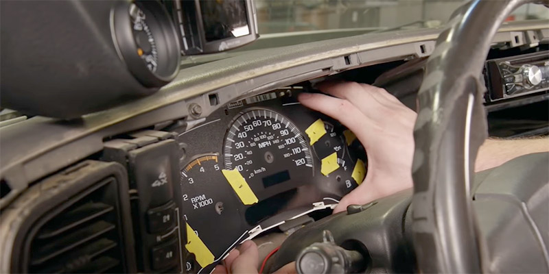 how to reset gm instrument cluster